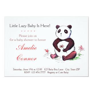 不精で中国のなパンダのおもしろいなベビーシャワーの招待状 カード