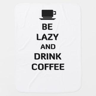 不精なおよび飲み物のコーヒーがあって下さい ベビー ブランケット