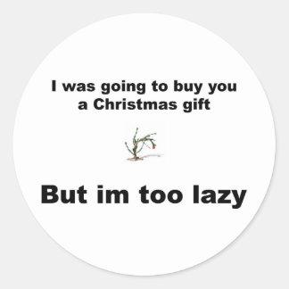 不精なクリスマス ラウンドシール