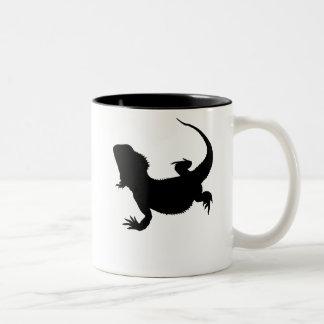 不精なトカゲ ツートーンマグカップ