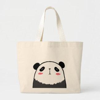 不精なパンダ ラージトートバッグ