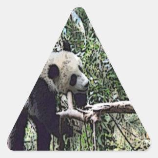 不精なパンダ 三角形シール