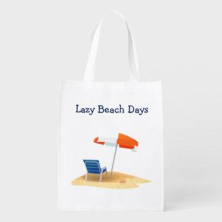 不精なビーチの日のビーチ場面 エコバッグ
