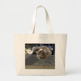 不精な子猫 ラージトートバッグ