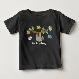 不精な容認-ベビーのカジュアルなワイシャツ(暗い) ベビーTシャツ