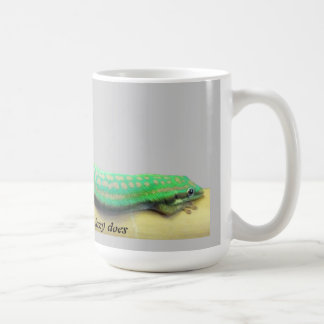 不精な日のヤモリのマグ コーヒーマグカップ