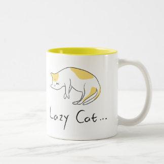 不精な猫のマグ ツートーンマグカップ