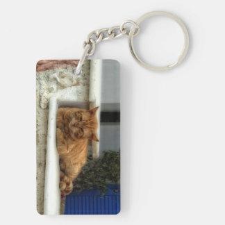 不精な猫 キーホルダー