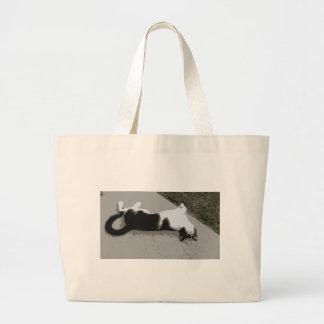 不精な猫 ラージトートバッグ