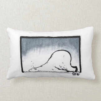 不精な白くまMEHの枕 ランバークッション