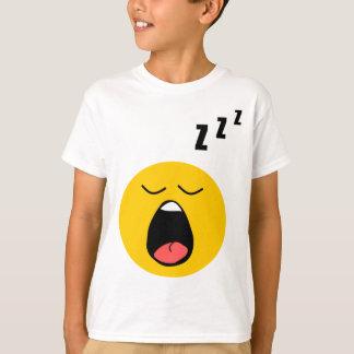 不精な睡眠のスマイリー Tシャツ