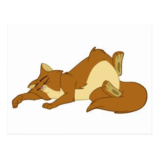 不精な睡眠猫 ポストカード