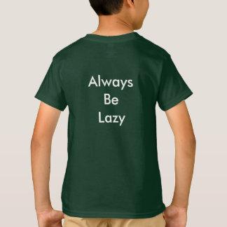 「不精な」猫の子供のTシャツが常にあって下さい Tシャツ