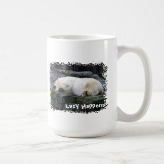 不精白くまは起こります コーヒーマグカップ