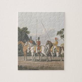 不規則な騎兵隊、ベンガルの軍隊は1817年、5つをからのめっきします ジグソーパズル