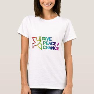 与えて下さい平和にチャンス(虹)を Tシャツ