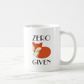 与えられるゼロキツネ コーヒーマグカップ