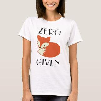 与えられるゼロキツネ Tシャツ