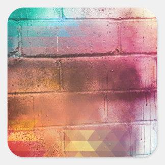 与えることの愛のため-数々のなレンガ壁の芸術 スクエアシール