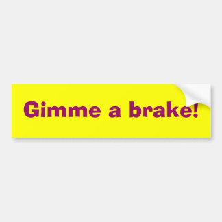 与え私ブレーキ02 バンパーステッカー