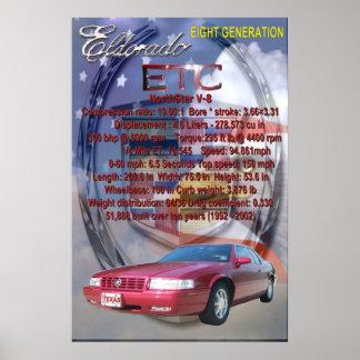 世代別キャデラックの第8 Eldorado ポスター