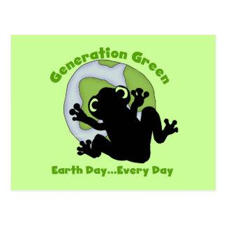 世代別緑のTシャツおよびギフト ポストカード