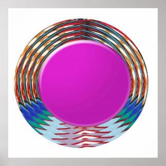 世俗的な芸術: エレガントな円形の円のカラフルの喜び ポスター