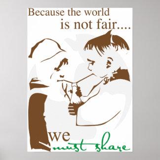 世界が公平…ではないので ポスター