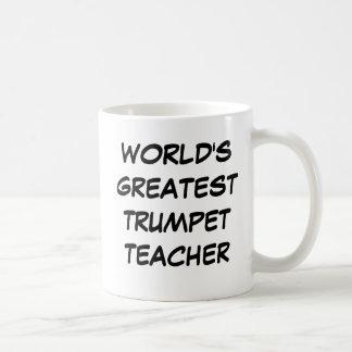 """""""世界すばらしいトランペット先生""""のマグ コーヒーマグカップ"""