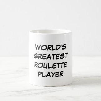 """""""世界すばらしいルーレットプレーヤー""""のマグ コーヒーマグカップ"""