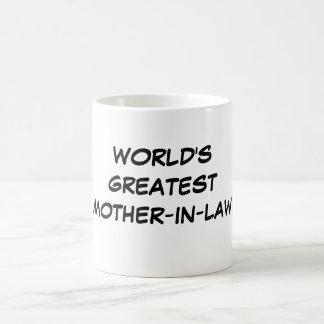 """""""世界すばらしい義母""""のマグ コーヒーマグカップ"""