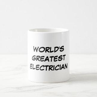 """""""世界すばらしい電気技師""""のマグ コーヒーマグカップ"""