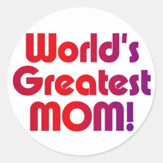 世界ですばらしいお母さん ラウンドシール