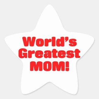 世界ですばらしいお母さん 星シール
