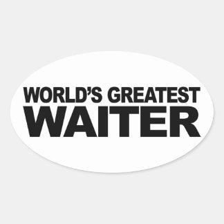 世界ですばらしいウェイター 楕円形シール