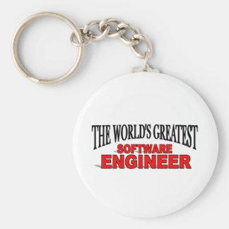 世界ですばらしいソフトウェアエンジニア キーホルダー