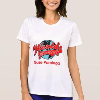 世界ですばらしいナースのパラリーガル Tシャツ