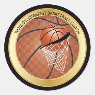 世界ですばらしいバスケットボールのコーチ ラウンドシール
