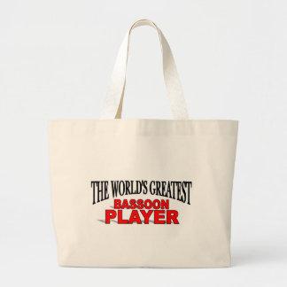 世界ですばらしいバスーンプレーヤー ラージトートバッグ
