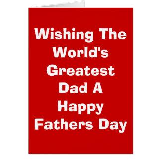 世界ですばらしいパパに幸せな父を望みます… カード