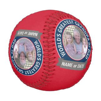 世界ですばらしいパパの祖父のカスタムの写真テンプレート 野球ボール