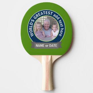 世界ですばらしいパパの祖父の写真の緑海軍 卓球ラケット