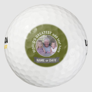 世界ですばらしいパパの祖父の習慣の写真テンプレート ゴルフボール
