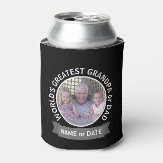 世界ですばらしいパパの祖父の習慣の写真テンプレート 缶クーラー