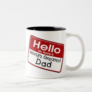 世界ですばらしいパパ ツートーンマグカップ