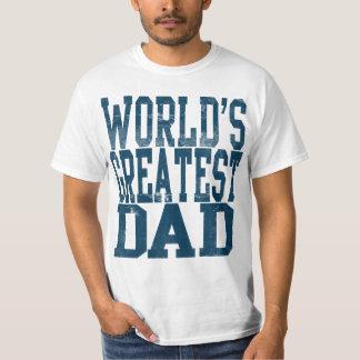 世界ですばらしいパパ、大きいゴシック体のTシャツ Tシャツ