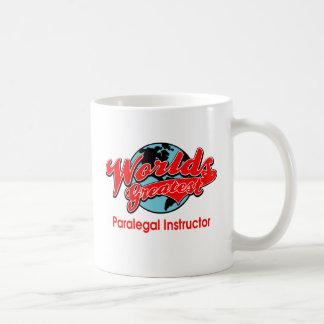 世界ですばらしいパラリーガルのインストラクター コーヒーマグカップ