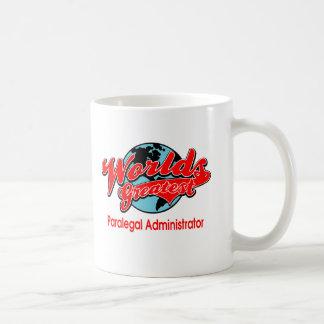 世界ですばらしいパラリーガルの管理者 コーヒーマグカップ