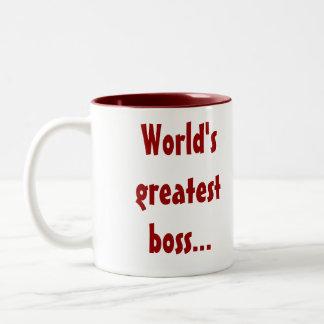 世界ですばらしいボスは…私に昇給およびあなたをカリフォルニア与えます ツートーンマグカップ