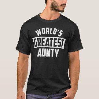 世界ですばらしい伯母さん Tシャツ